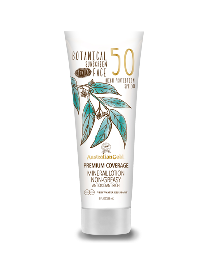 AUSTRALIAN GOLD BOTANICAL SPF 50 TINTED FACE LOTION 88ML LIGHT