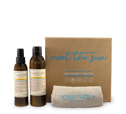 TOGETHAIR KIT MEET THE SUN: LOW SHAMPOO 200ML+MILKY OIL 125ML+BORSA