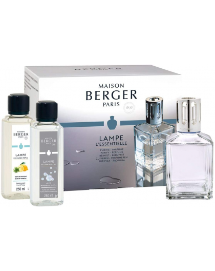 LAMPE BERGER COFANETTO ESSENTIELLE LAMPE CARREE + 2X 250ML