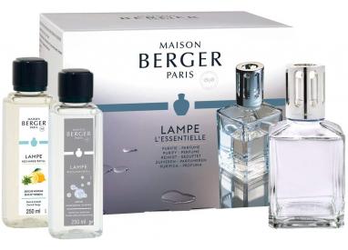 LAMPE BERGER COFANETTO ESSENTIELLE LAMPE CARREE + 2X 250ML