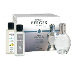 LAMPE BERGER COFANETTO ESSENTIELLE LAMPE OVALE + 2X 250ML