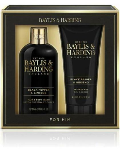 BAYLIS&HARDING SIGNATURE MENS SET DETERGENTE CORPO E GEL DOCCIA