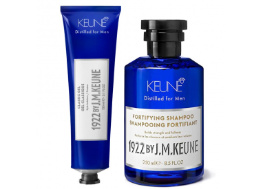 KEUNE FORTIFYING HAIR MAN SHAMPOO + CLASSIC GEL