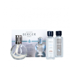 LAMPE BERGER COFANETTO ESSENTIELLE LAMPE RONDE +2x250ML